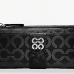 Coach Julia Op Art Sateen Slim Zip Wallet # 47379 สี BLACK