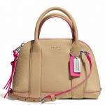 COACH BLEECKER MINI BLACK PRESTON EDGEPAINT LEATHER SATCHEL # 30344 สี CAMEL