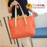 กระเป๋าแฟชั่นXiaoxiang กระเป๋าสะพาย ขอบหยัก สีส้ม ด้านในกระเป๋าบุผ้าลายช้างน่ารักค่ะ