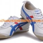 [พร้อมส่ง]รองเท้า onitsuka tiger โอนิสึกะ สีขาว คาด ฟ้า-แดง ไซส์ 39