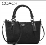 coach colette signature mini fashion satchel # 33416 สี black