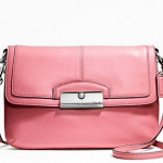 COACH Kristin Leather Flap Crossbody # 48986 สี Rose