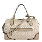 COACH POPPY SIGNATURE C METALLIC OUTLINE EAST/WEST SATCHEL # 26426