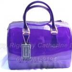 กระเป๋า Furla Candy Bag  ทรงหมอน  ขนาด 12 นิ้ว สูง 8.5 นิ้ว  ฐานลึก 6 นิ้ว สีม่วง