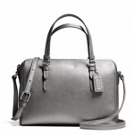 COACH BENNEETT LEATHER MINI SATCHEL CROSSBODY # 50430 สี SILVER/PEWTER