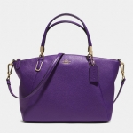 COACH SMALL KELSEY CROSSBODY IN PEBBLED LEATHER # 33733 สี Light Gold/Violet