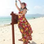 Summer Maxi Dress-Chiffon |  ซัมเมอร์เดรสผ้าชีฟองพิมพ์ลาย แฟชั่นเกาหลี
