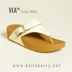 **พร้อมส่ง** รองเท้า FitFlop Via : Urban White Size US 7 / EU 38