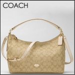 COACH EAST/WEST CELESTE CONVERTIBLE HOBO IN SIGNATURE # 34899 สี LIGHT KHAKI/CHALK