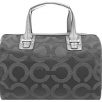 COACH TAYLOR OP ART SATEEN SATCHEL # 25503 สี Gray