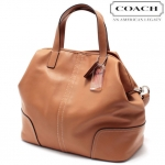 COACH HADLEY LEATHER DUFFLE # 27728 สี SILVER/NATURAL