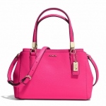 Coach Madison Saffiano Small Christie Satchel Crossbody # 30402  สี LI/PINK RUBY