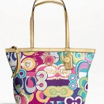 Coach SIGNATURE STRIPE PRINT TOTE # 19434