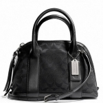 PROMOTION ลูกค้าเก่า !!! COACH BLEECKER MINI PRESTON SATCHEL IN SIGNATURE FABRIC # 30268 สี SILVER/BLACK/BLACK