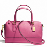 COACH SAFFIANO LEATHER MINI SATCHEL # 49392 สี HOT PINK