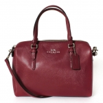 COACH BENNEETT LEATHER MINI SATCHEL CROSSBODY # 50430 สี MERLOT