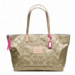 COACH SIGNATURE LEGACY WEEKEND NYLON EW ZIP TOP TOTE # 24862