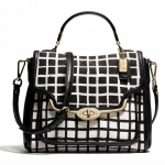 COACH MADISON SMALL SADIE FLAP SATCHEL IN GRAPHIC PRINT FABRIC # 28084