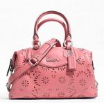 COACH ASHLEY LACE LEATHER SATCHEL SHOULDER BAG # 21929 สี Rose