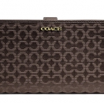 COACH Madison Needlepoint Op Art Skinny Wallet # 50520 สี Li/Mahogany