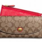 COACH Peyton Signature Slim/Envelope Wallet Pouch # 49154