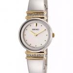 Seiko Women's SUJG32 Crystal Bangle White Dial Watch