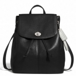 Coach Park Leather Backpack Purse # 24385 สี Black