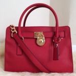 MICHAEL Michael Kors Hamilton Saffiano Leather Medium Satchele