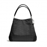 COACH MADISON SMALL PHOEBE SHOULDER BAG IN OP ART PEARLESCENT FABRIC # 27843