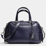 COACH ACE satchel in glovetanned leather # 37017 สี Dark Indigo Blue
