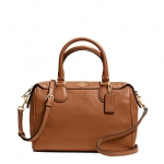 COACH PEBBLED LEATHER MINI BENNETT SATCHEL # 36677 สี IMITATION GOLD/SADDLE