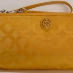 COACH Julia Signature OP ART GoGo Large Wristlet # 45381