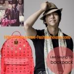 [พร้อมส่ง]กระเป๋าเป้ MCM สีแดง แบบ เรน อีจุน เอ็มแบล็ก MBLAQ จีดรากอน อีซึงกิ sj-m ลีกวางซุ รันนิ่งแมน lee kwangsoo