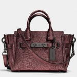 Coach Swagger 20 in Metallic Pebble Leather # 35990 สี Metallic Cherry