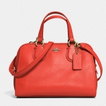 COACH MINI NOLITA SATCHEL IN LEATHER # 33735 สี WATERMELON