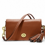 COACH LEGACY LEATHER PENNY SHOULDER PURSE # 19914 สี BRASS / COGNAC