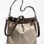 Coach ASHLEY SIGNATURE HIPPIE # 20111 สี Khaki Mahoggani