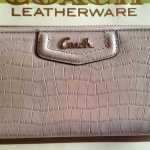 COACH ASHLEY EMBOSSED EXOTIC ZIP AROUND WALLET # 49102 สี SAND