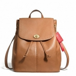 Coach Park Leather Backpack Purse # 24385 สี British Tan