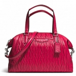 COACH GATHERED LEATHER SATCHEL # 29284 สี RASPBERRY