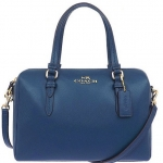 COACH BENNEETT LEATHER MINI SATCHEL CROSSBODY # 50430 สี PEACOCK
