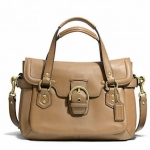 COACH CAMPBELL LEATHER SMALL FLAP SATCHEL # 27231 สี CAMEL