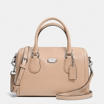 COACH CROSSGRAIN LEATHER MINI BENNETT SATCHEL # 33329 สี GOLD/NUDE