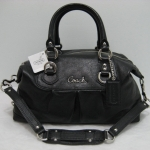 COACH ASHLEY LEATHER SATCHEL # 15445 Silver/Black