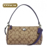 COACH PEYTON SIGNATURE TOP HANDLE POUCH CROSSBODY BAG # 52187