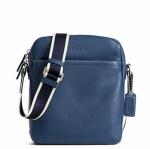 Coach Heritage Web Leather Flight Bag # 70813 สี Marine