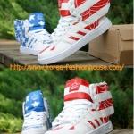 [พร้อมส่ง]รองเท้าปีก adidas Originals ObyO ลายธงชาติสหรัฐฯ ไซส์ 39#43ข้างนึงสีแดง ข้างนึงสีน้ำเงิน