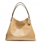 COACH MADISON PHOEBE SHOULDER BAG IN LEATHER # 24621 สี CAMEL