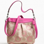 Coach ASHLEY DOTTED OP ART HIPPIE #  20088 สี SILVER/KHAKI/FUCHSIA