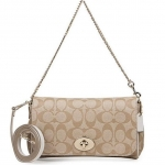 Coach Signature Mini Ruby Crossbody # 34615 สี LIGHT GOLD/LIGHT KHAKI/CHALK